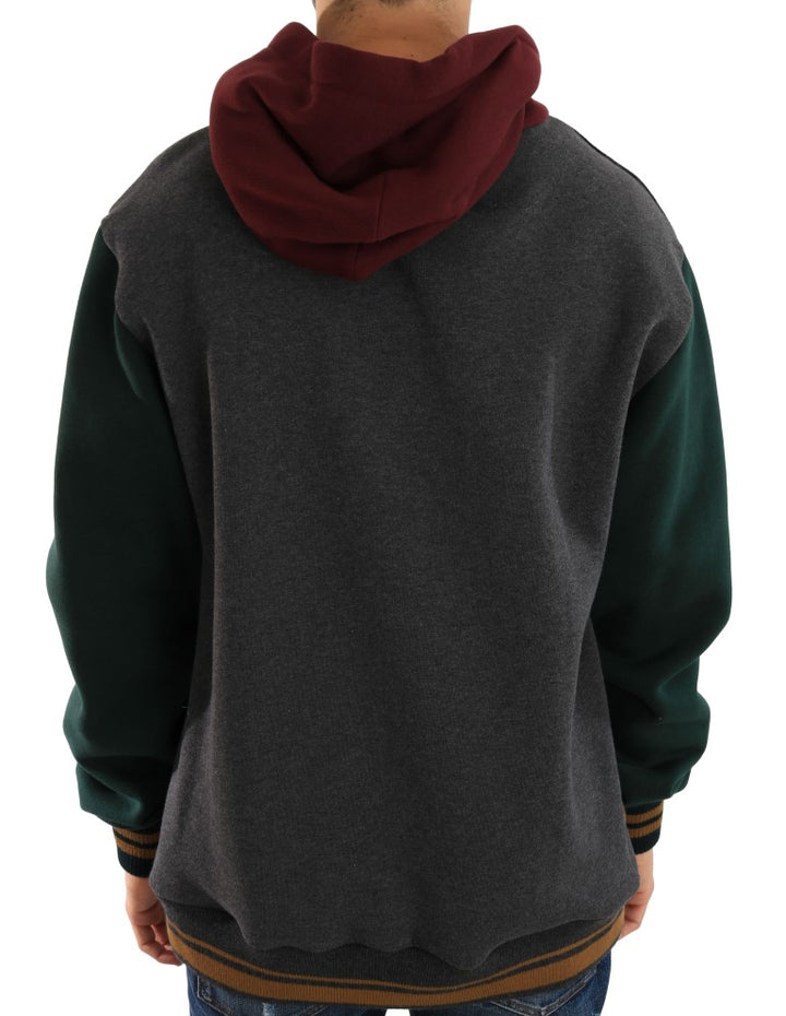 Multicolor Knitted Wool Hooded Sweater
