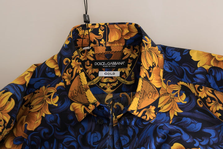 Blue Yellow Slim Fit GOLD Shirt