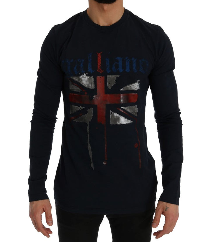Blue Motive Flag Long Sleeve T-Shirt