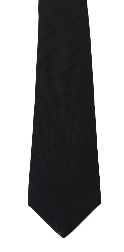Gray Silk Patterned Tie