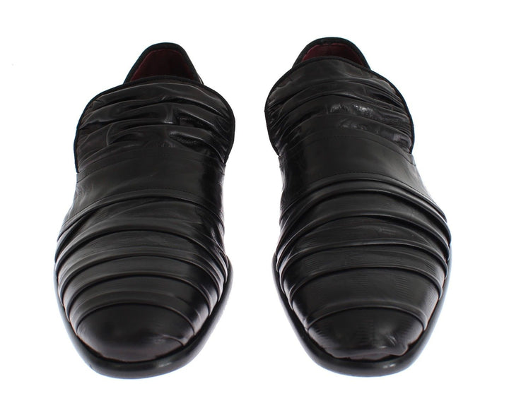 Black Kangaroo Leather Dress Formal Shoes