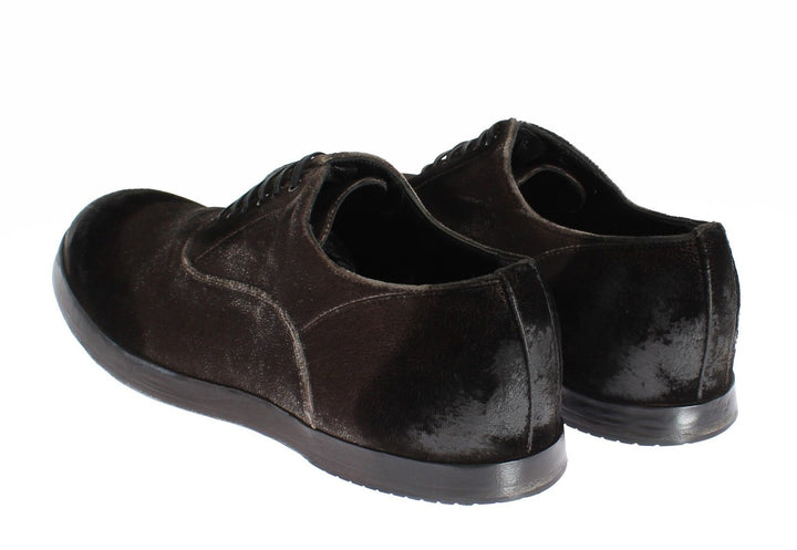 Brown Velvet Casual Mens Laceups Shoes