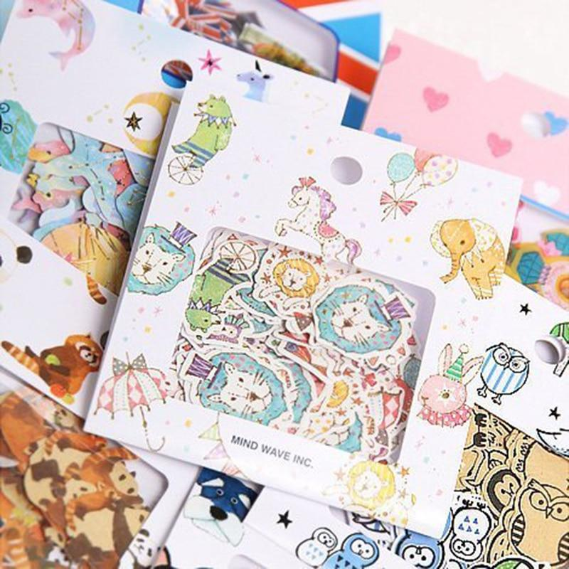 Inventive 45 Pcs The Cat King Cute Cartoon Animal Paper Sticker Decorat Diy Diary Scrapbooking Sticker Childrens Favorite Stationery Gift Office & School Supplies