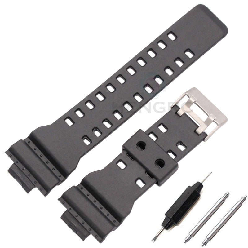 de61e198c51a 16mm Silicone Rubber Watch Band Strap Fit For Casio G Shock Replacement  Black Waterproof Watchbands Accessories ...