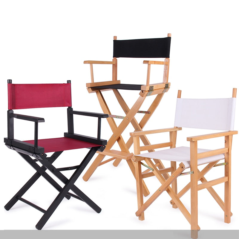 A, Artist Director Chair Foldable Outdoor Furniture Lightweight Photography Accessorice Portable Folding Director Makeup Chair ...