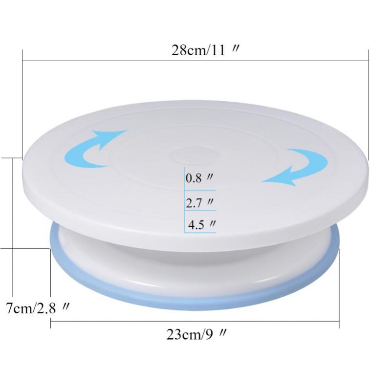 Cake Decorating Turntable Rotating Cake Stand Baking Supplies Tools Wi