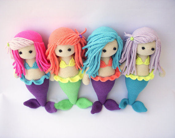 Crochet Doll Amigurumi Doll Mermaid Crochet Doll Free Shipping