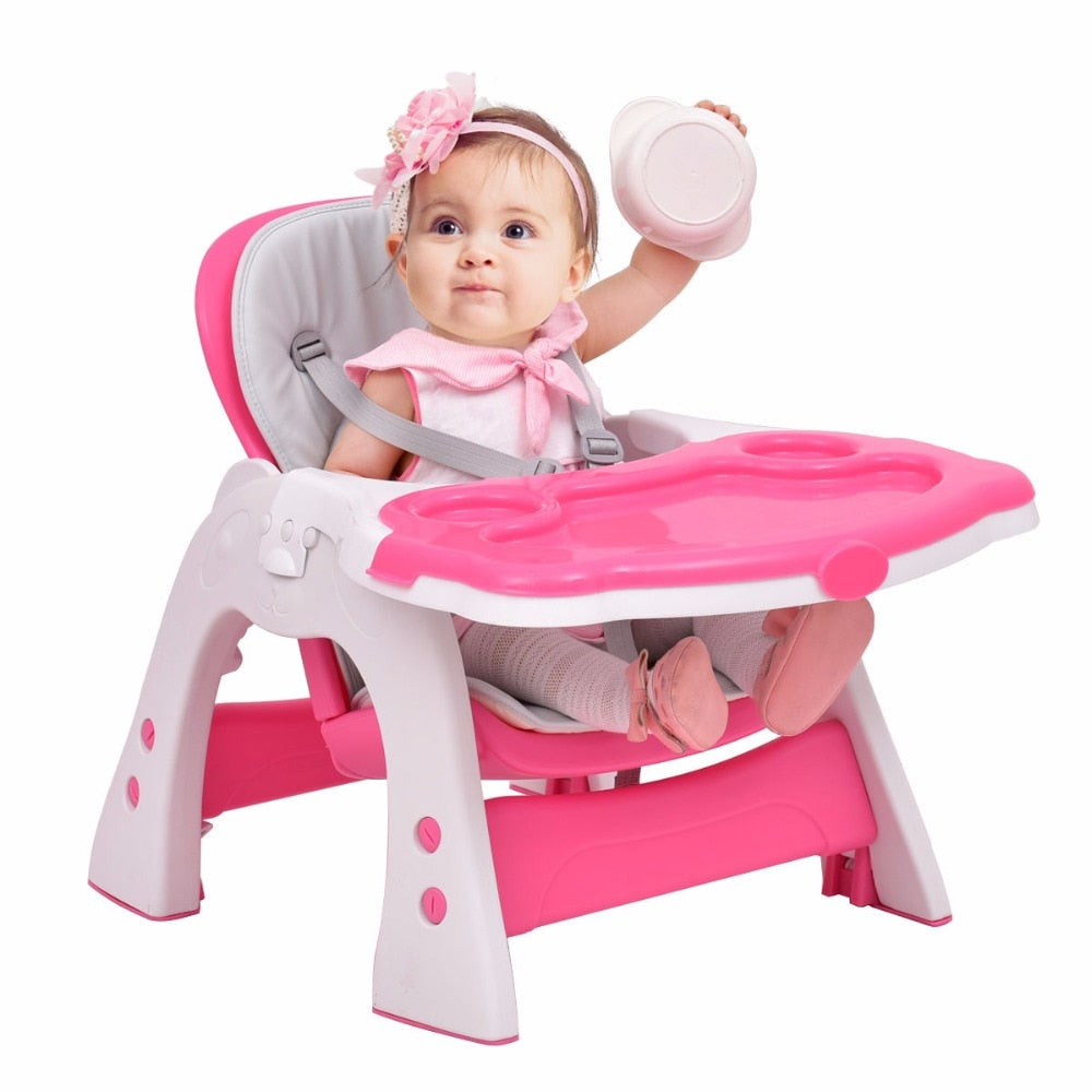 Giantex 3 In 1 Baby High Chair Convertible Play Table Seat Booster Tod
