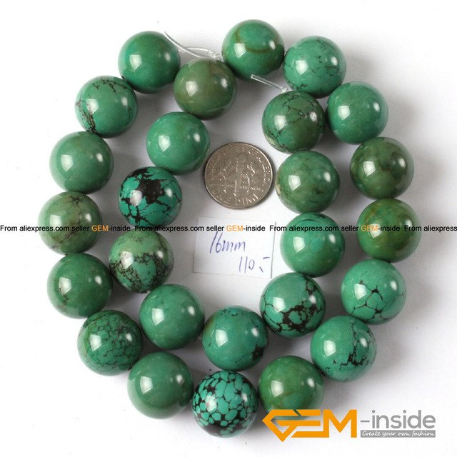 Round Blue Turquoises Beads,natural stone bead,Fashion Jewelry Beads For  Bracelet Making Strand 15