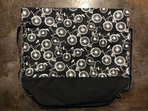 Black & White Medium Bicycle Bag