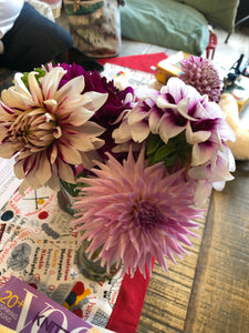 Mary Lou's Dahlias (dark/mauve version)