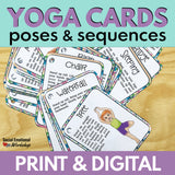 Printable Yoga Cards and Posters: Yoga Poses with Simple Sequences