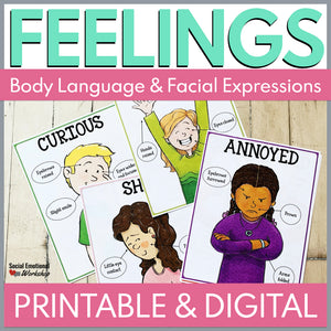 Feelings Posters with Printable and Digital Activities for Distance Learning