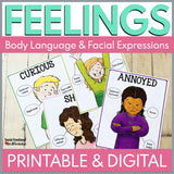 Feelings Posters with Printable and Digital Activities for Distance Learning - Social Emotional Workshop