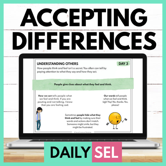 Understanding and Accepting Differences: Social Emotional Learning Activities - SEL for Distance Learning