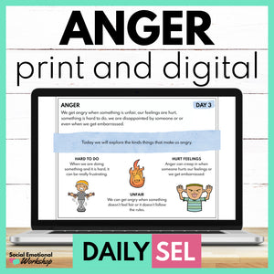Anger Social Emotional Learning Activities - SEL for Distance Learning - Social Emotional Workshop