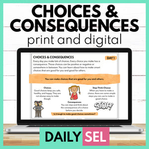 Choices and Consequences - SEL Activities for Distance Learning - Social Emotional Workshop