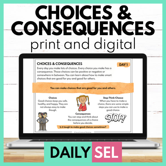 Choices and Consequences - SEL Activities for Distance Learning