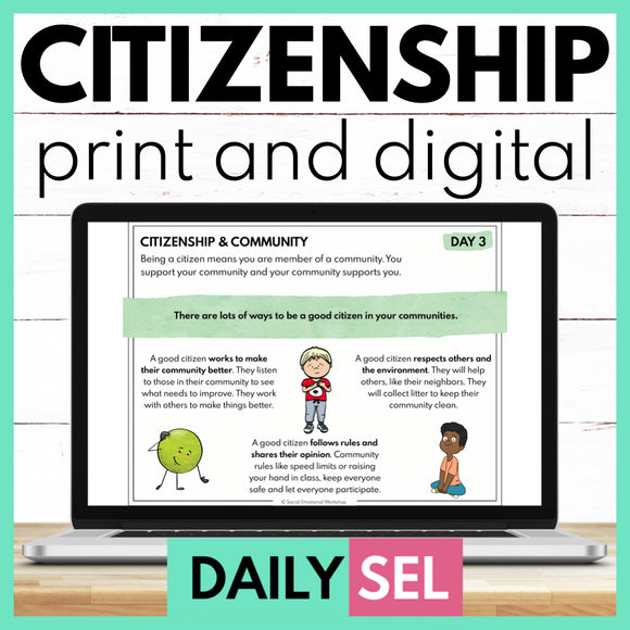 Citizenship and Community: Social Emotional Learning Activities - SEL for Distance Learning