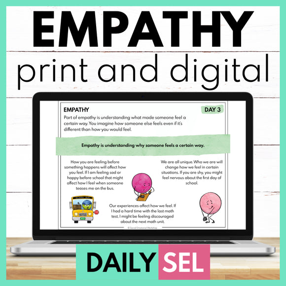 Empathy and Compassion - Social Emotional Learning Activities - SEL for Distance Learning - Social Emotional Workshop