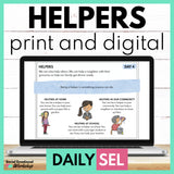 Helpers Social Emotional Learning Activities - SEL for Distance Learning