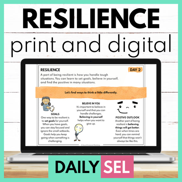 Resilience - SEL Activities for Distance Learning - Social Emotional Workshop