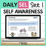 Daily Social Emotional Learning Activities - Set 1 - SEL for Distance Learning - Social Emotional Workshop