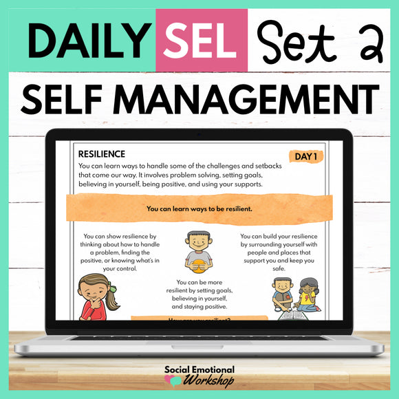 Daily SEL Activities for Self Management - Set 2 - SEL Distance Learning