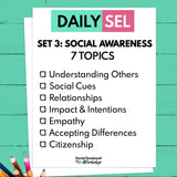 Daily Social Emotional Learning Activities - Set 3 - SEL for Distance Learning