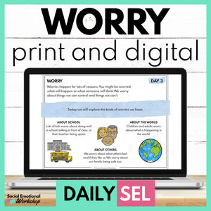 Worry Social Emotional Learning Activities - SEL for Distance Learning