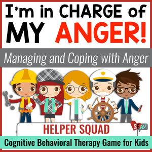 Managing Anger: Cognitive Therapy (CBT) School Counseling Game for Anger