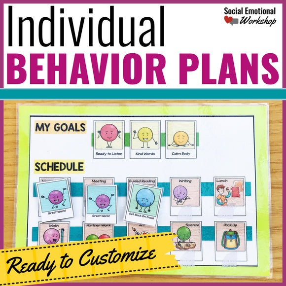 Individual Behavior Charts and Behavior Intervention Plans - Social Emotional Workshop