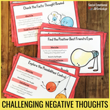 Negative Thinking Activities to Challenge Negative Self Talk - Social Emotional Workshop