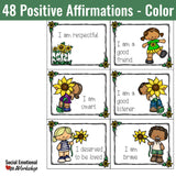 Positive Affirmation Cards for Positive Thinking and Healthy Self-Esteem - Social Emotional Workshop