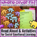 Social Emotional Learning Interactive Read Aloud: Where Oliver Fits