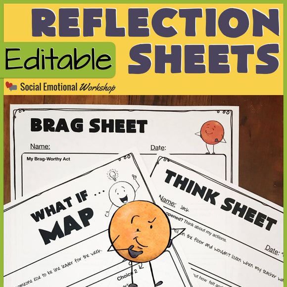 Editable Think Sheets for Positive and Negative Behaviors - Social Emotional Workshop