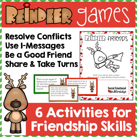 Friendship Skills and Conflict Resolution Activities for Christmas - Social Emotional Workshop