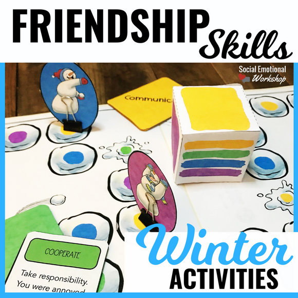 Winter Friendship Activities and Friendship Games - Social Emotional Workshop