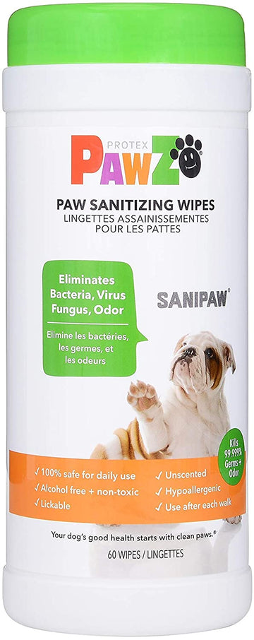 Antibacterial Dog Paw Wipes (60 Wipes)