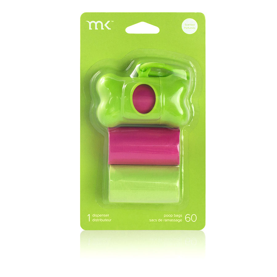 Poop Bag Set - Lime & Pink
