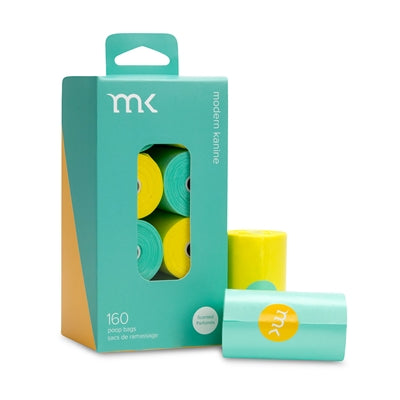 Box of 160 Bags / 8 Rolls - Turquoise & Yellow
