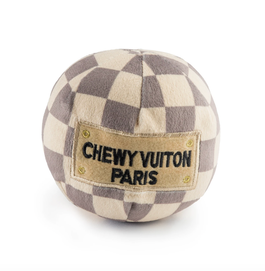 Checker Chewy Vuiton Plush Ball Toy