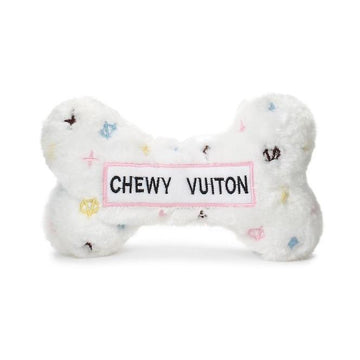 Chewy Vuiton Bone Toy - White