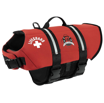 Doggy Life Jacket - Lifeguard Red