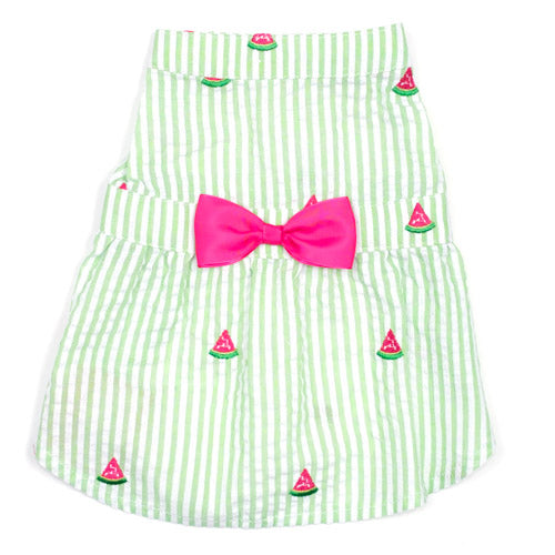 Green Stripe Watermelon Dress