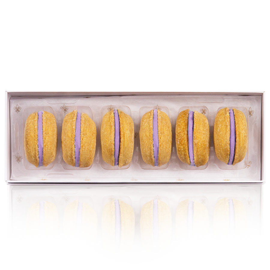 Lavender Dog Macarons (Dog Treats) - Box of 6