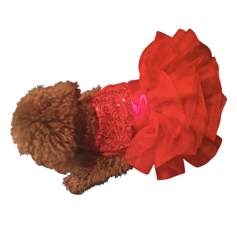 Red Sequins Fufu Tutu Dress
