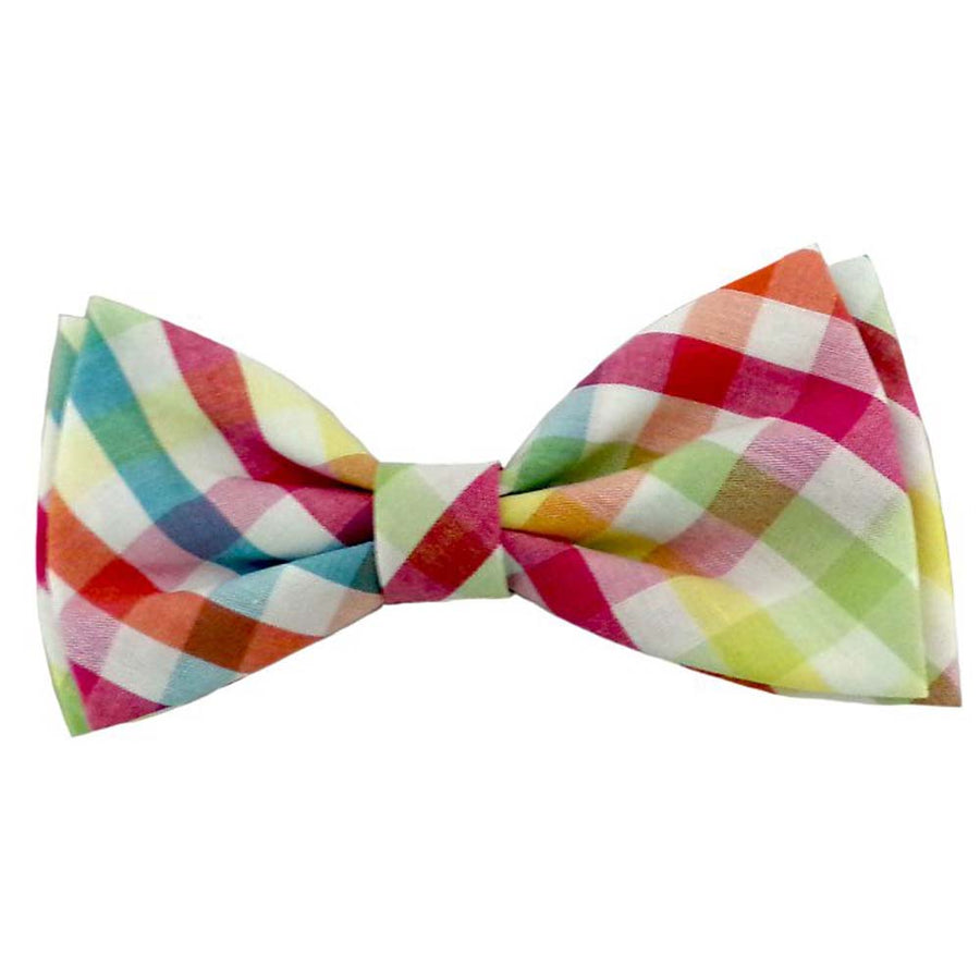 Yellow Check Bow Tie