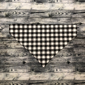 Black Gingham Pet Bandana