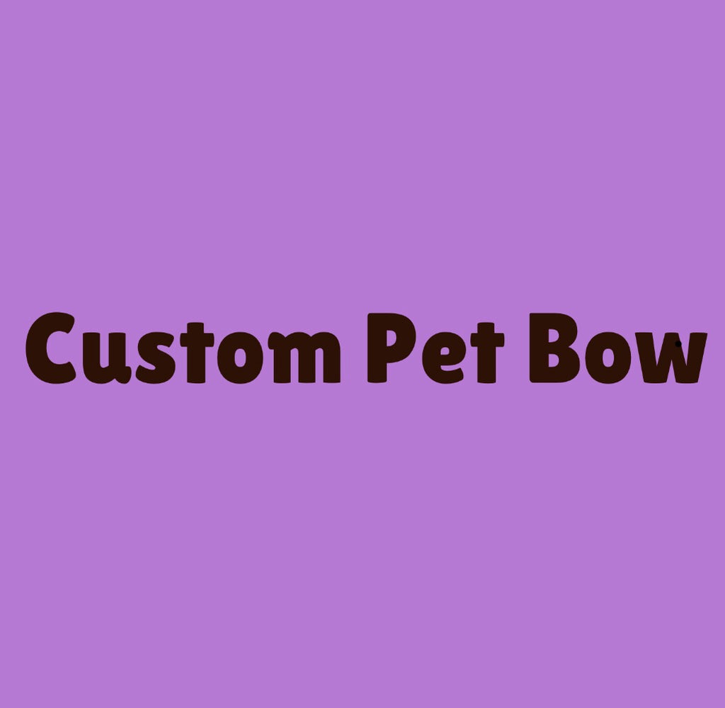 Make a Custom Pet Hair Bow